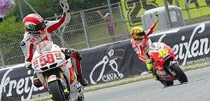 Simoncelli and Rossi: two much-loved characters. LaPresse